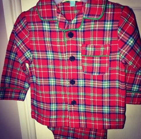 john lewis tartan pyjamas red boys christmas eve box kids babies