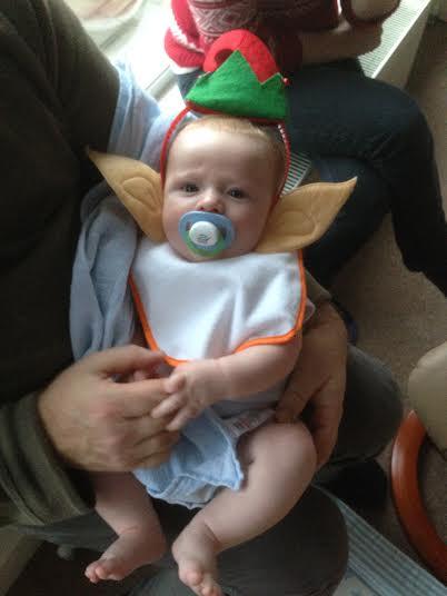 first christmas dress up costumer elf baby boy