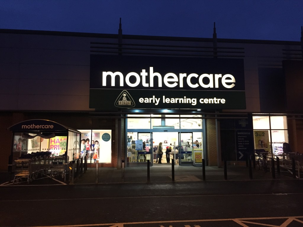 Mothercare Expectant Parent Evening store front