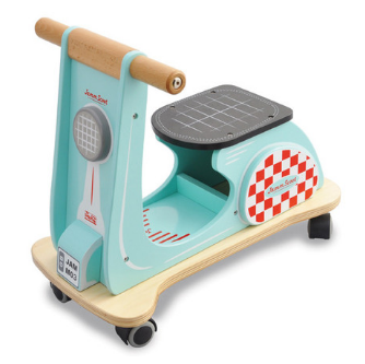 Jamm Scoot Scooter Wooden Vintage Toy Racer Race Aqua Colour First Birthday Gift Ideas Boys Second