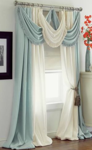 dramatic curtains voile drapes floor length bedroom
