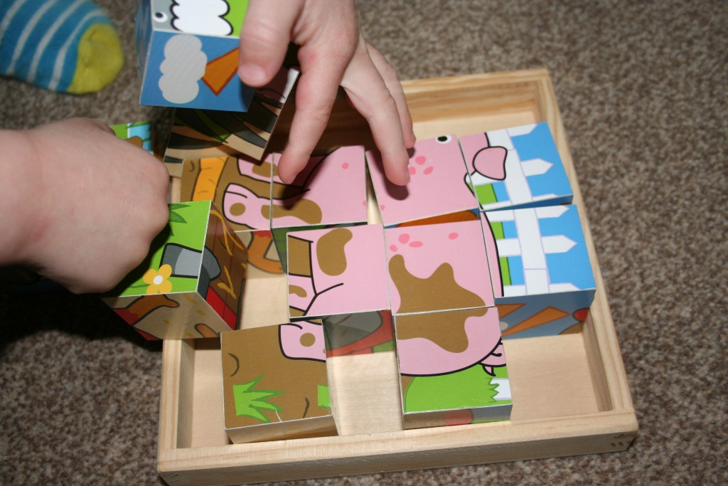 bigjigs toys big jigs puzzle puzzles cubes kids toddlers toddler baby gifts cube farm animals review