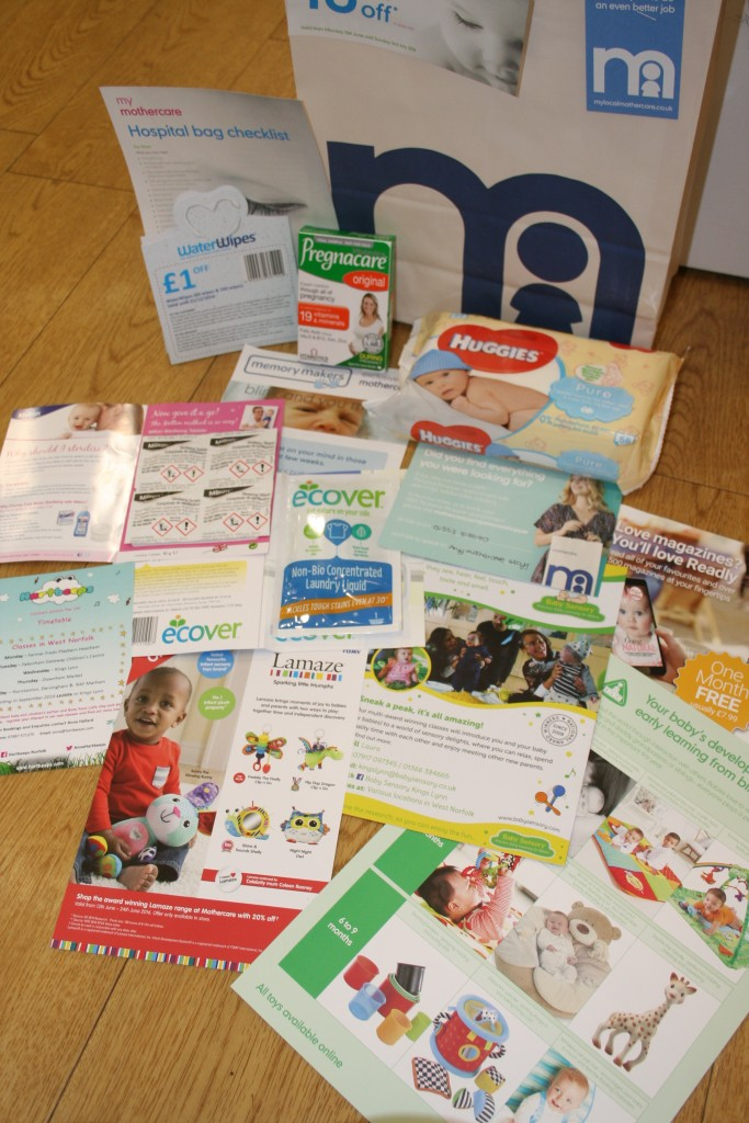 mothercare expectant parent evening event 2016 goodie bag what happens what's included what can i expect local area exclusive west norfolk