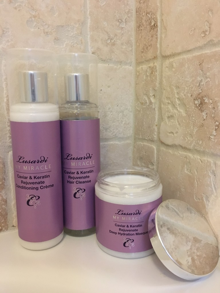 linda lusardi hair collection care range caviar and keratin my miracle rejuvenate cleanse conditioning creme deep hydration masque review