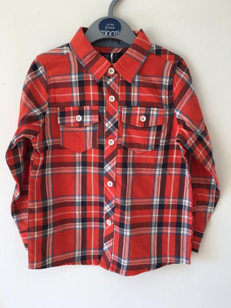 roco clothing review minoti orange checkered shirt lumberjack style boys