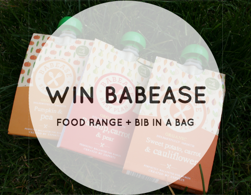 win babease food range and bib in a bag giveaway repin pinnable competition image raising the rings blog parenting weaning food healthy good organic