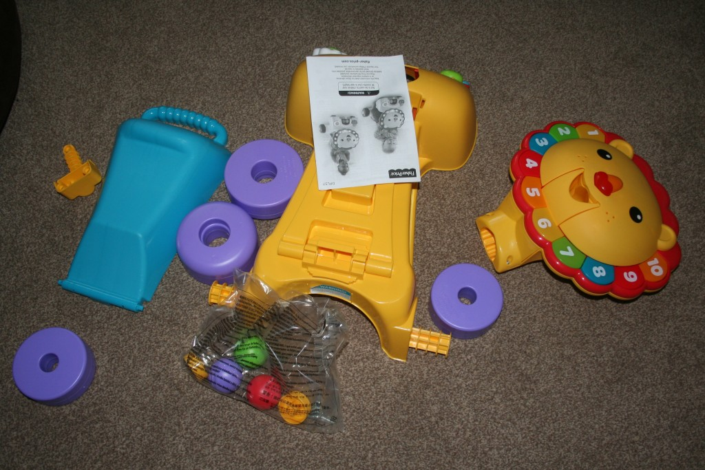 fisher price 3-in-1 sit, stride and ride lion review instructions for assembly put together all the different parts