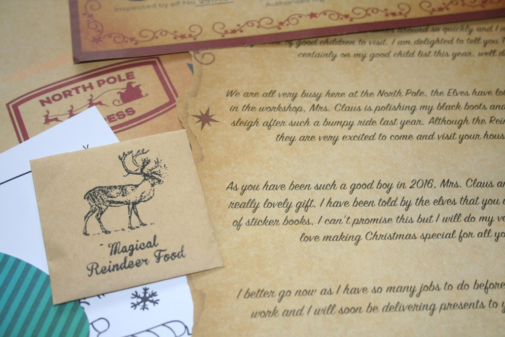 magic santa letter review personalised father christmas north pole magic reindeer food good child certificate colouring