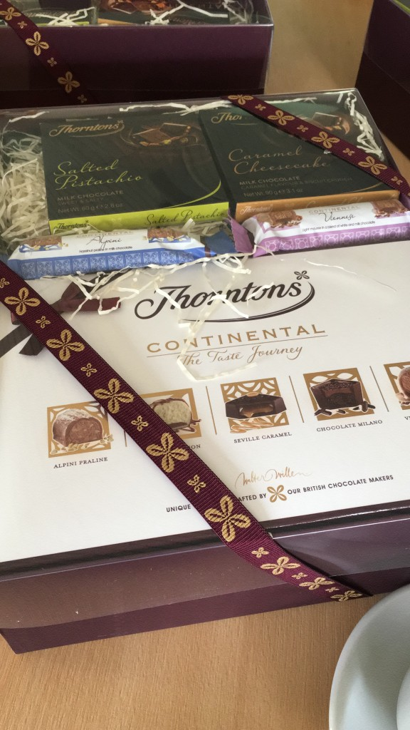 thorntons factory tour chocolate blogger event continental box salted pistachio caramel cheesecake bars selection