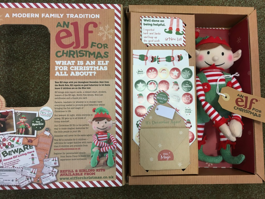 an elf for christmas review elf on the shelf traditional modern boy girl competition giveaway win christmas activities ideas