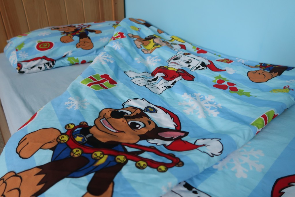 paw patrol snowflake christmas bedding festive duvet quilt cover review and giveaway december