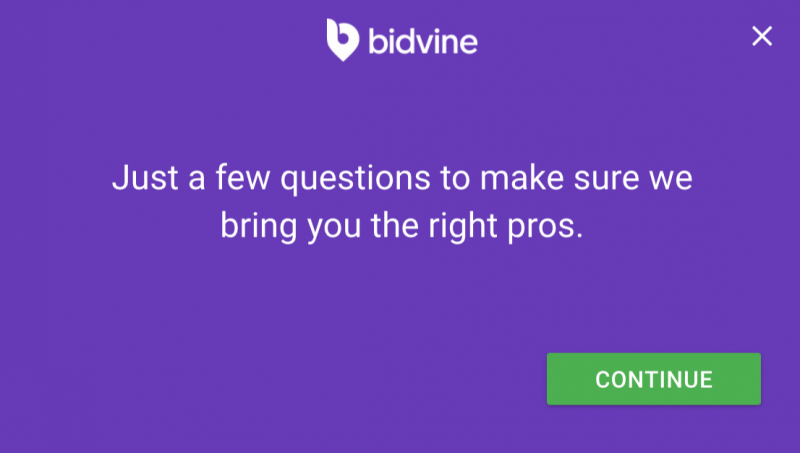 Bidvine submission process find local services hire professionals in the area review from raising the rings