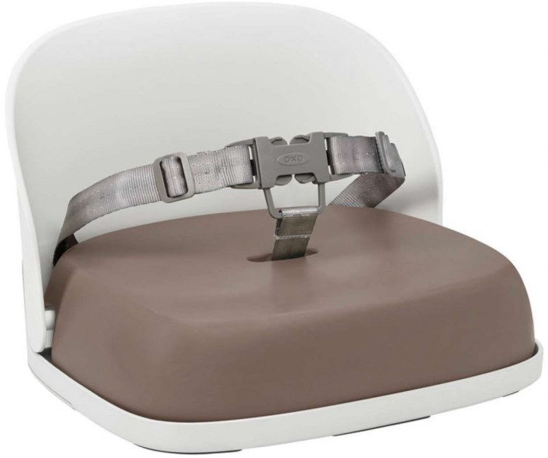 oxotot oxo tot feeding products perch booster seat in taupe green grey transportable light compact easy to set up