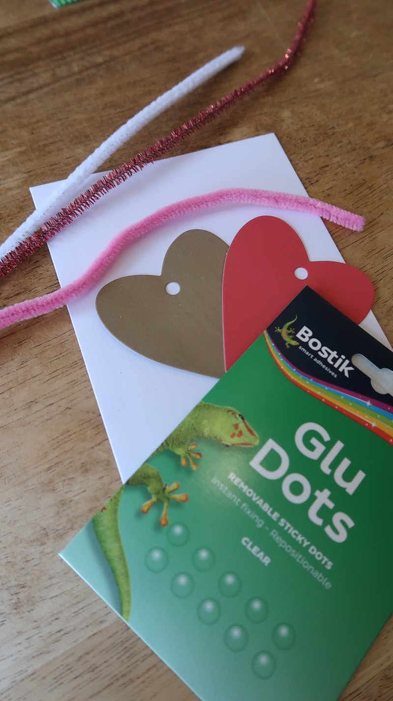 Bostik blogger raising the rings valentine's crafts ribbon and white glue card easy to do with kids cheap and cheerful ideas lovely home made card DIY do it yourself stickers
