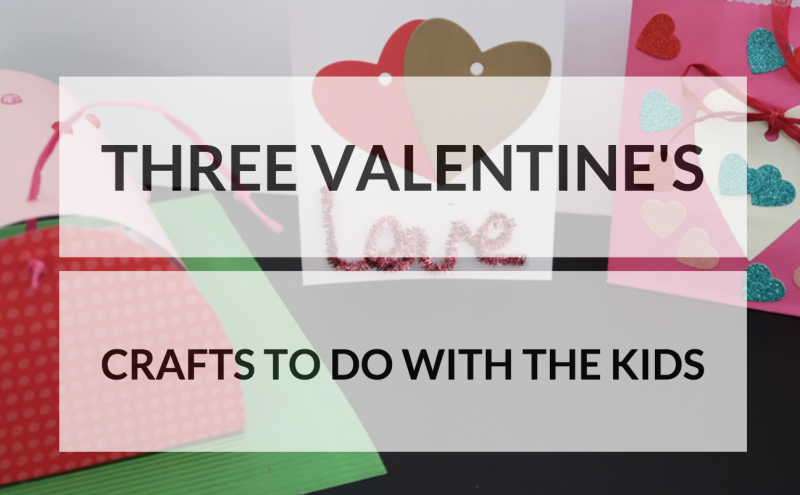 bostik bloggers three valentine's crafts to do with the kids love hearts stickers easy DIY home made crafting couples post box hand made card with pipe cleaners and card and a decorated paper bag