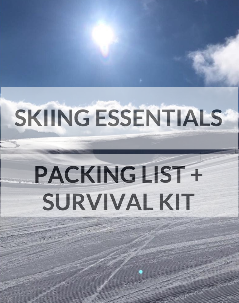 skiing essentials packing list and survival kit first aid bag luggage what to take with family
