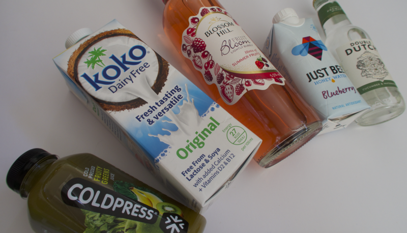 degustabox february 2017 review what was in the box contents fruity greens coldpress koko dairy free original lactose and soya free blossom hill sparkling wine just bee blueberry water double dutch cucumber tonic