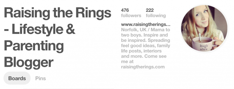 raising the rings pinterest profile grow your followers lifestyle and parenting blogger top tips from nicola at nicola says