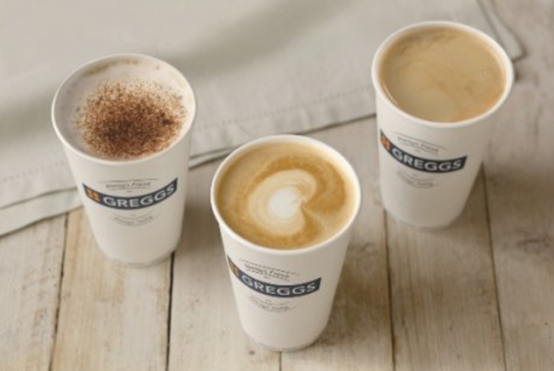 greggs undercover coffee fairtrade fortnight event cups black white latte cappuccino mocha espresso