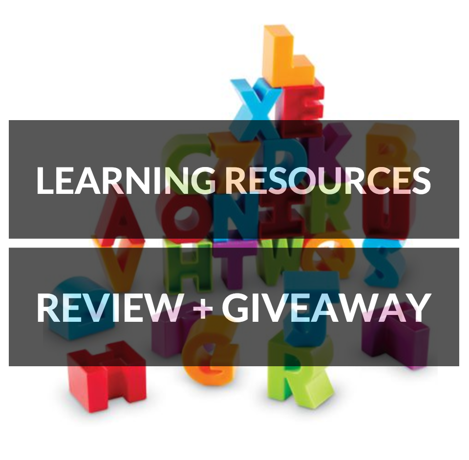 review and giveaway Learning resources alphabet building blocks colourful educational toys for home essentials development motor skills literacy spelling age 2+