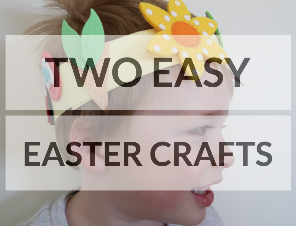 easy easter crafts card draw around your child's hand home made decorations bostik blogger raising the rings tulips flowers crafting