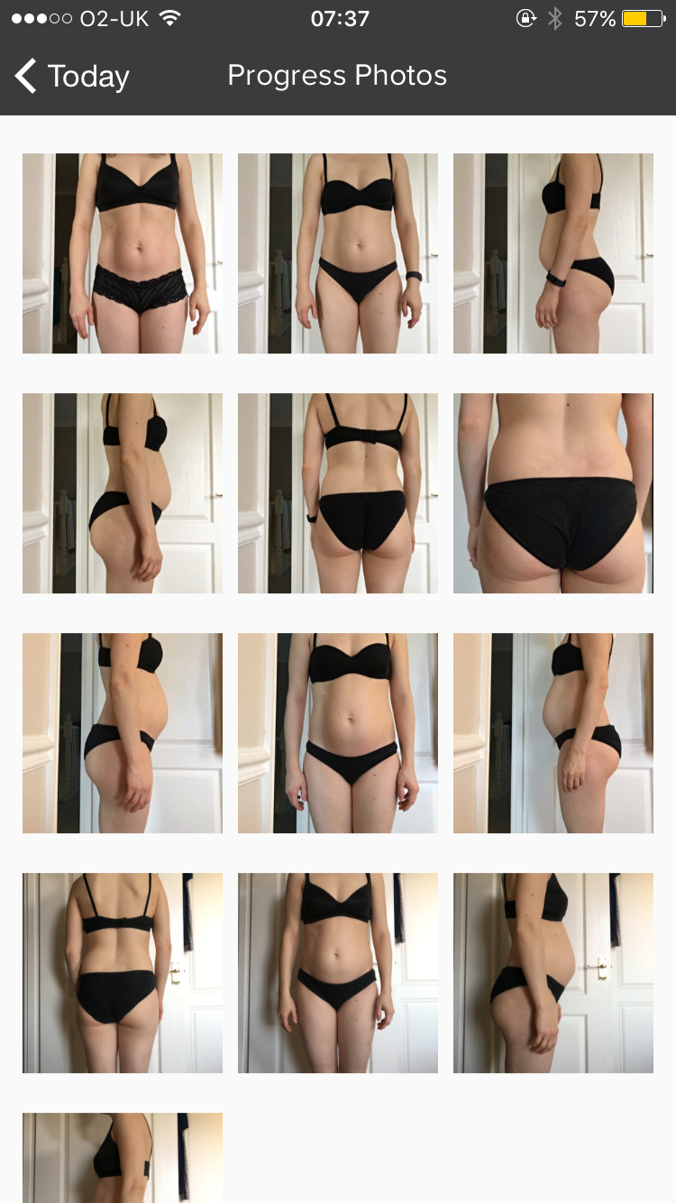 amy victoria bridal body coach total body transformation fitness and health coach nutrition exercise plan personalised review my pt hub app progress photos mum of two belly