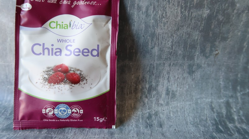 chiabia whole chia seeds omega 3 fibre protein vitamins and minerals sprinkle on soup and in food wowbox review