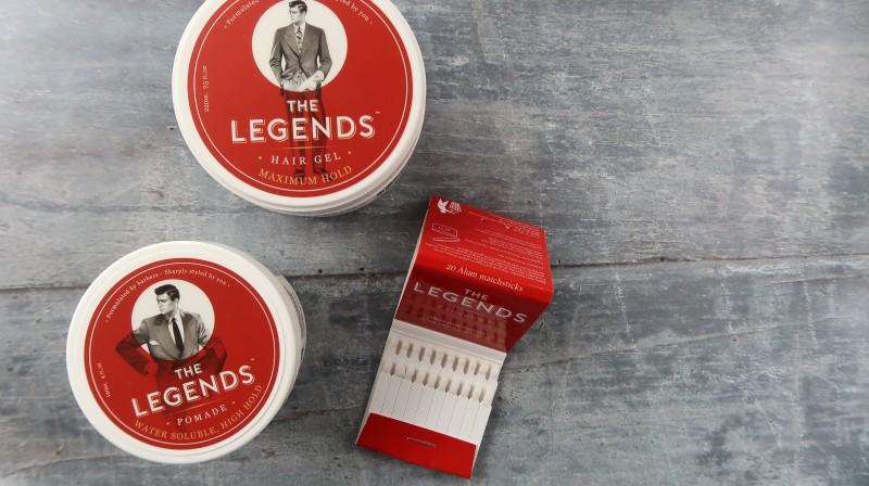 the legends barbershop hair care range men's gel pomade alum matchsticks father's day gift guide idea presents