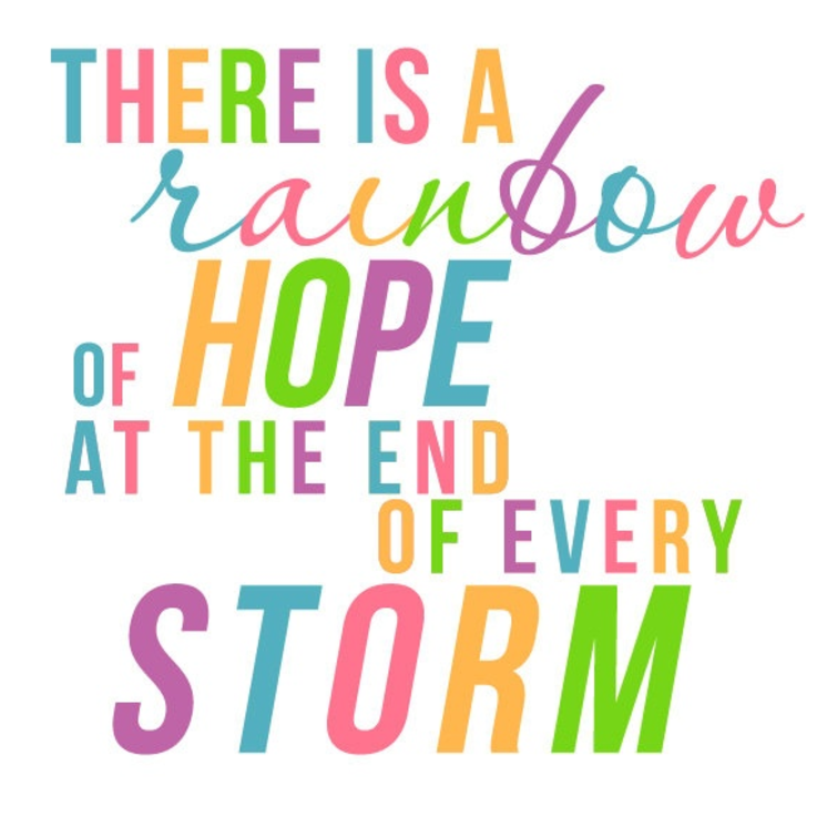 there is a rainbow of hope at the end of every storm rainbow baby taylord bundles personalised gifts