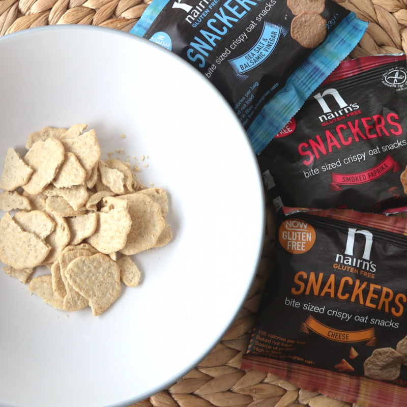 nairn's snackers bites cheese sea salt balsamic vinegar smoked paprika flavour gluten free snacks for adults supermarkets free from aisle multipack review