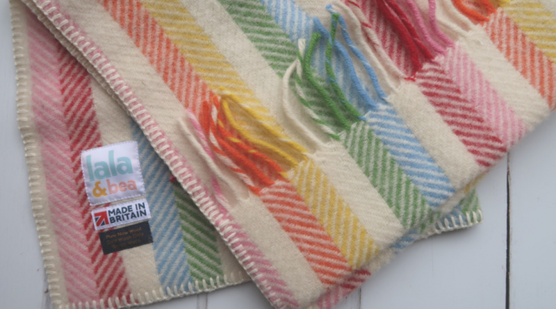 taylor'd bundles rainbow baby babies gift personalised new parents lala & bea blanket fringed