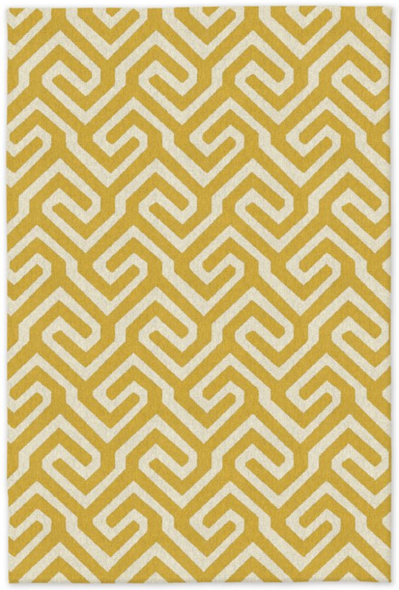 west elm x blogtacular competition entry bedroom makeover yellow geometric aztec design low pile rug