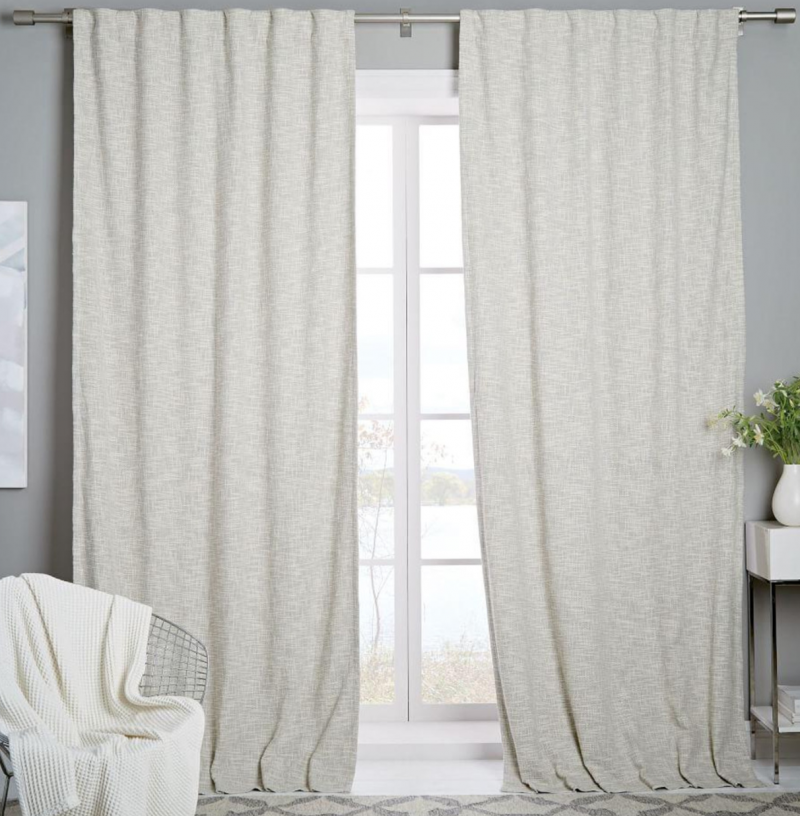 west elm x blogtacular competition entry bedroom makeover ivory black out curtains textured woven