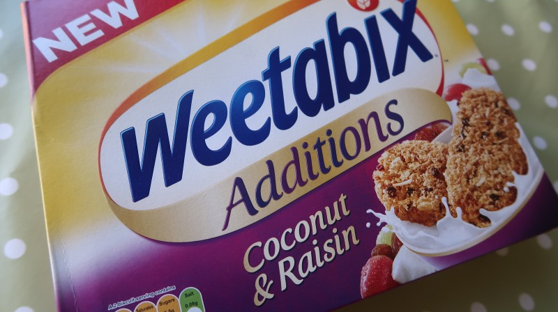 degustabox summer box july 2017 review new weetabix coconut and raisin cereal breakfast