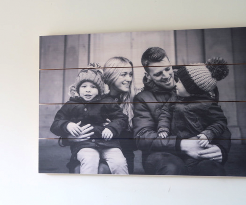 hello canvas review making our house a home with photos photo on wood whitewashed pine printed canvas alternative