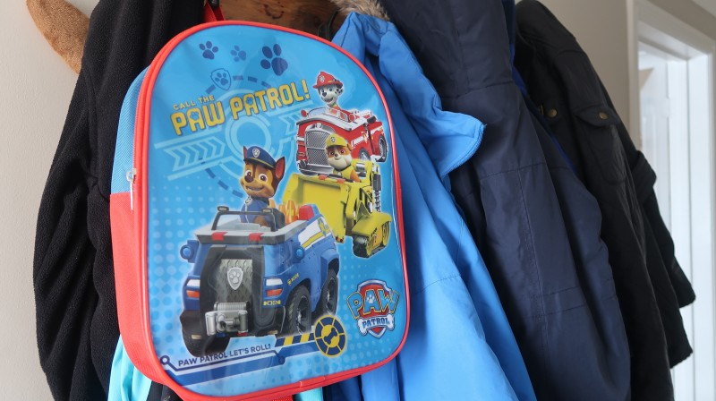 back to school reception first day paw patrol backpack wipe clean