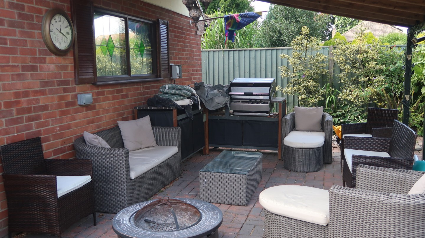 love the sales making our house a home our outdoor living area casbah undercover fire pit barbecue BBQ social area