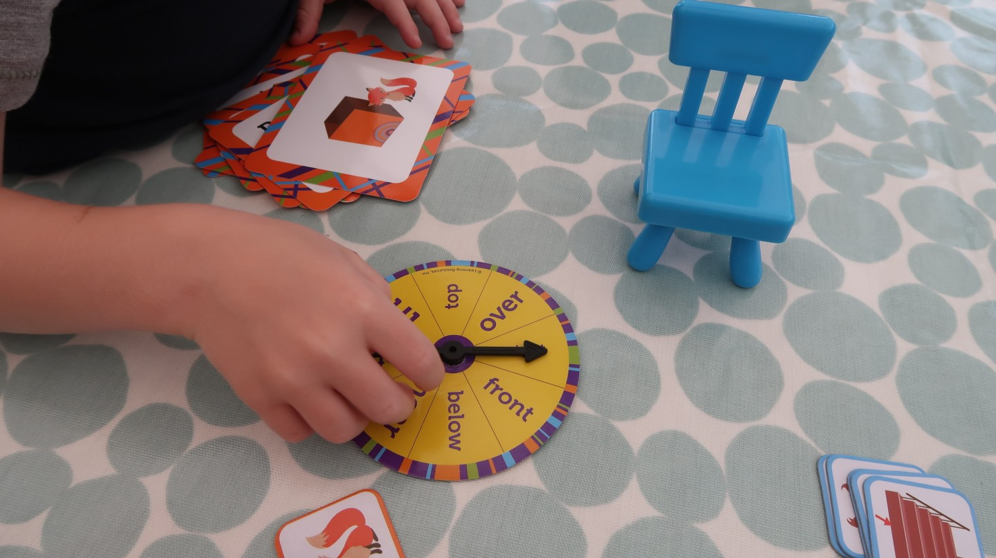 learning resources fox in the box activity set review positional word activities speech and understanding development