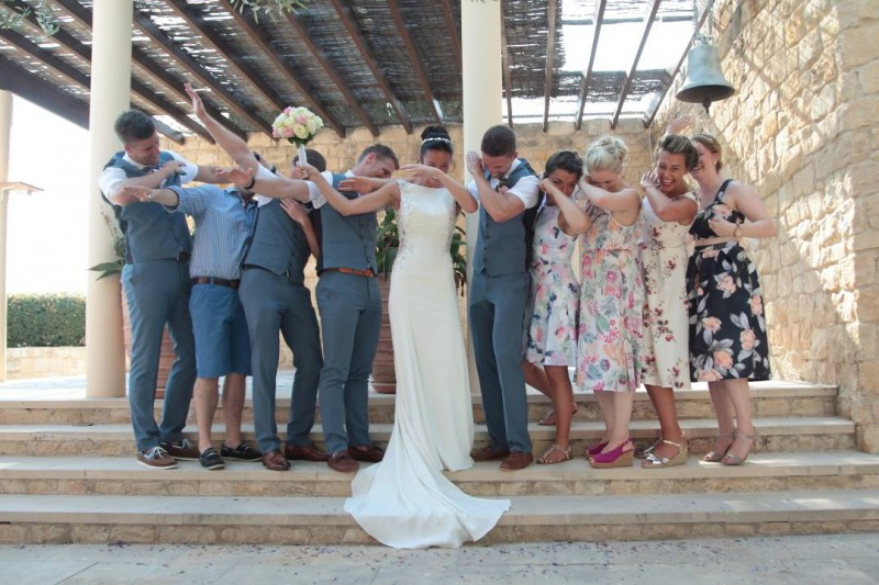 little loves raising the rings cyprus wedding august 2017 adults dab dabbing