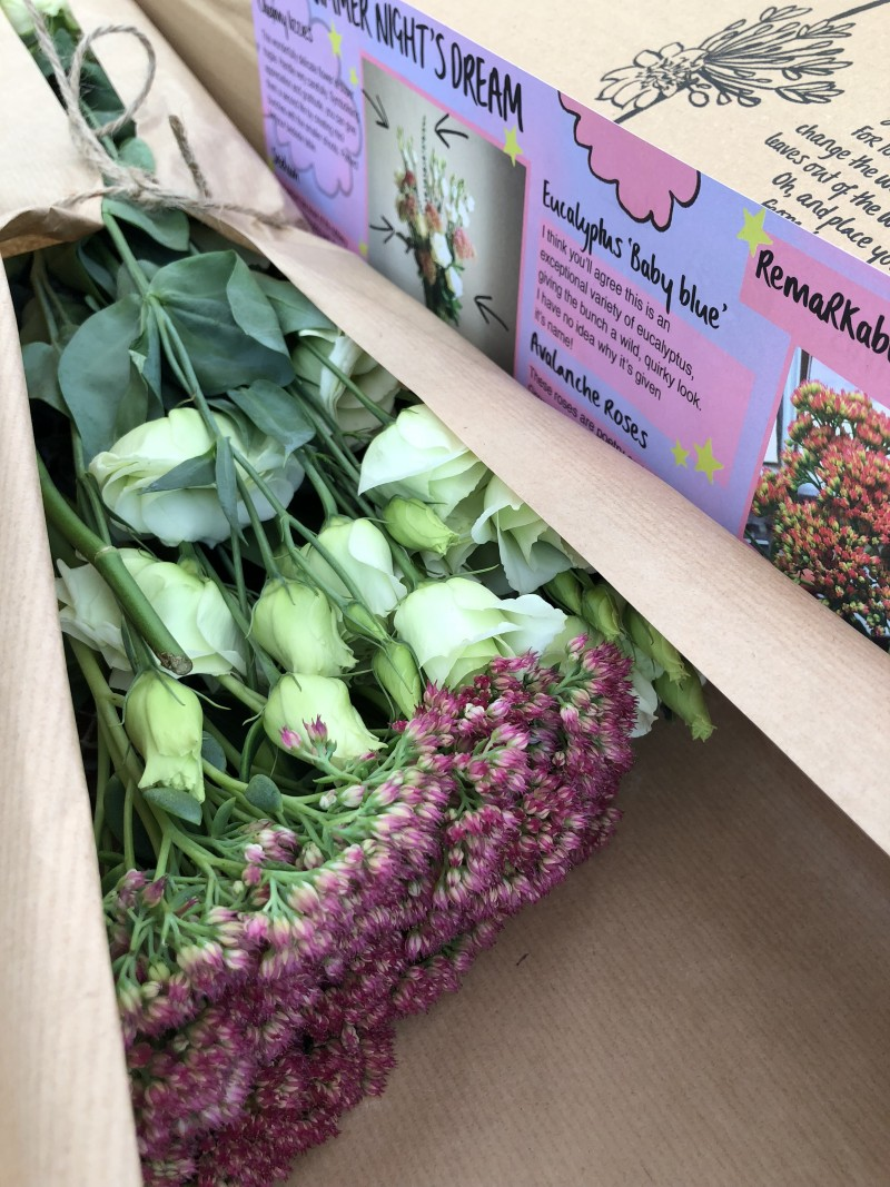 Review Freddie's Flowers Subscription + Discount Code flower arrangement inspiration and instruction leaflet