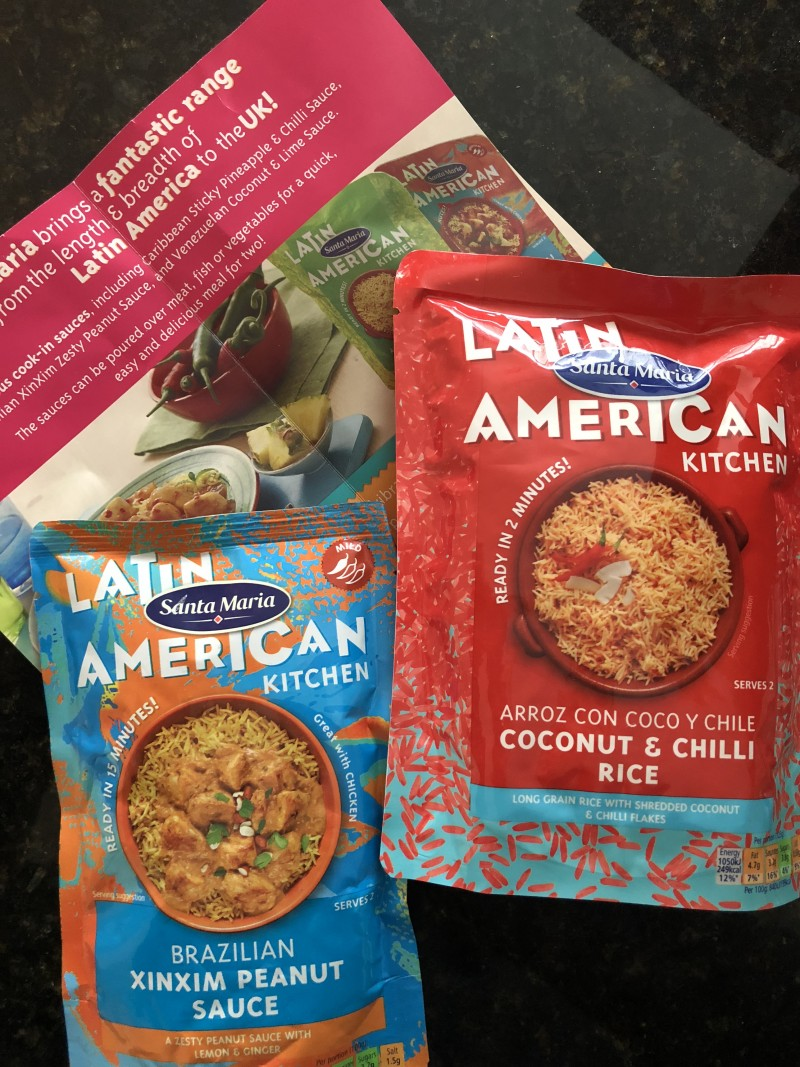 degustabox review september 2017 products inside latin american kitchen santa maria brazilian xinxim peanut sauce coconut and chilli rice