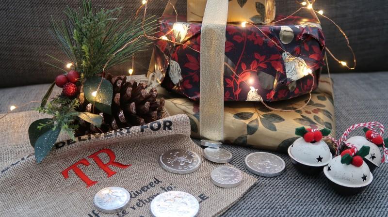 john lewis secret santa christmas present gift ideas pinecone lights ribbon