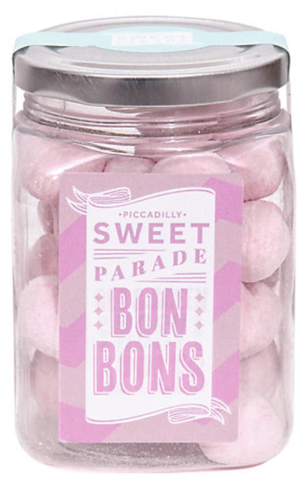 john lewis secret santa gift under £10 sweet treats piccadilly parade strawberry bonbons flatlay accessory
