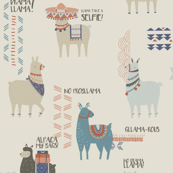 inspired wallpaper funky quirky DIY how to hang wallpaper gllama-rous llama design interiors
