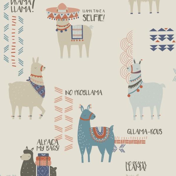 inspired wallpaper funky quirky DIY how to hang wallpaper gllama-rous llama design interiors