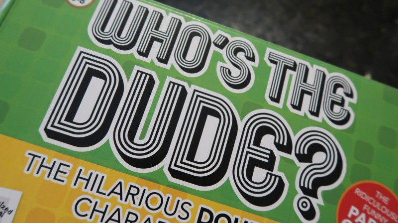 who's the dude? review win charades game christmas party with friends drumond park funny adult