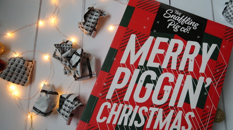 Christmas Alternative To Chocolate Advent Calendar List prezzybox the snaffling pig go pork scratchings merry piggin' christmas