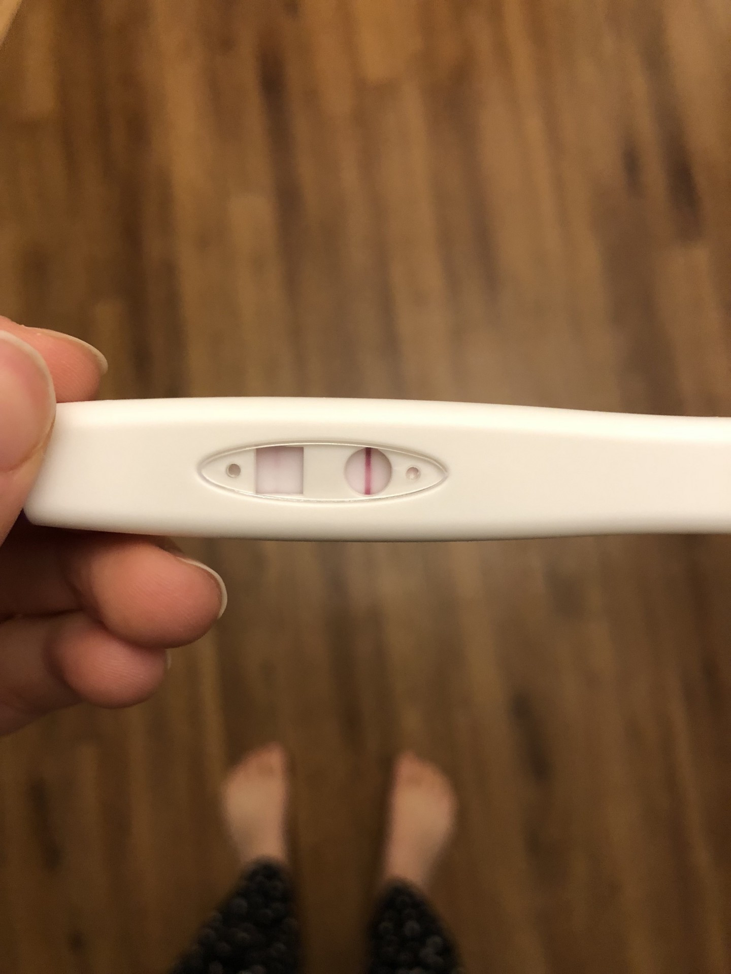 the brookfield lining raising the rings pregnancy test not sure if negative or positive how can I tell
