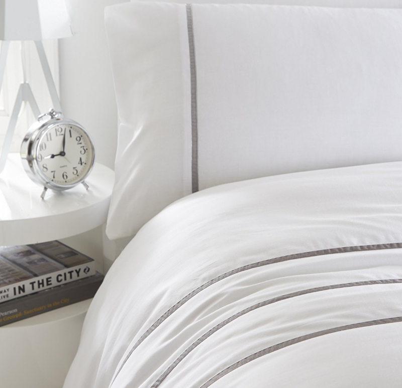 mother's day gift ideas for the interior obsessed mum silent night grey pinstripe percale good night's sleep