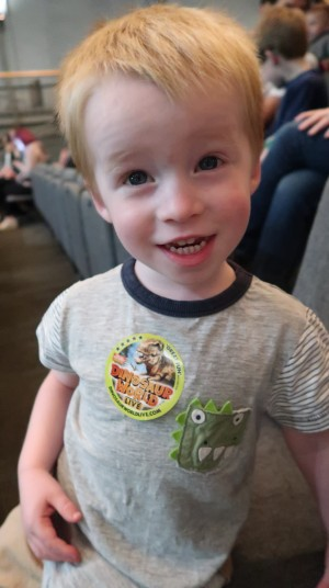 dinosaur world live review corn exchange norfolk dinosaurs show performance theatre sticker